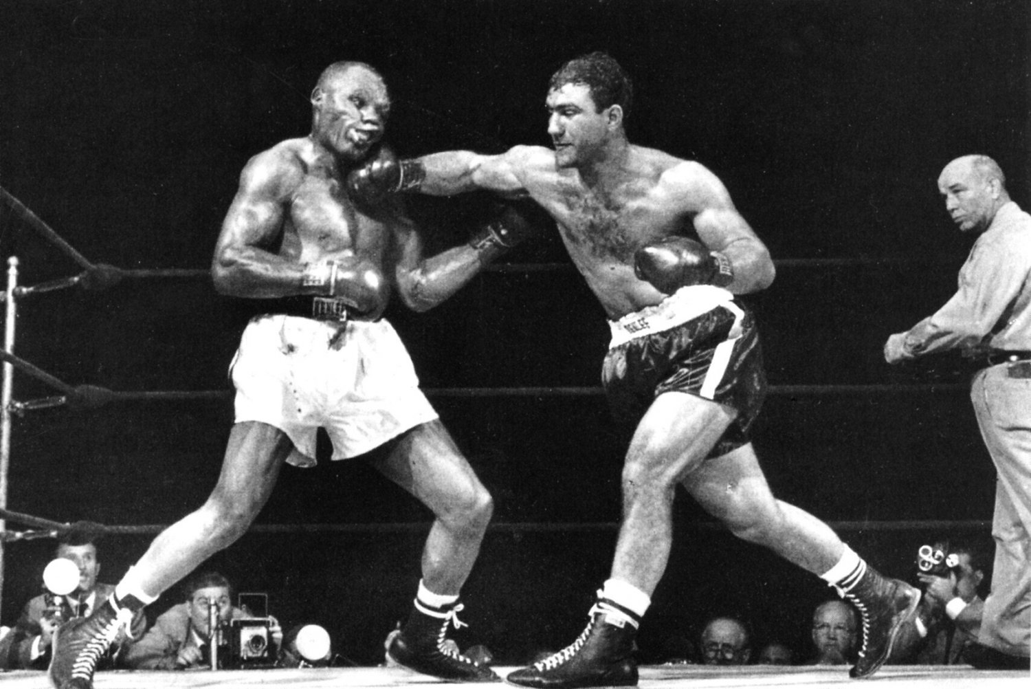 Rocky Marciano Photo Knock Out Heavyweight Boxing Champion